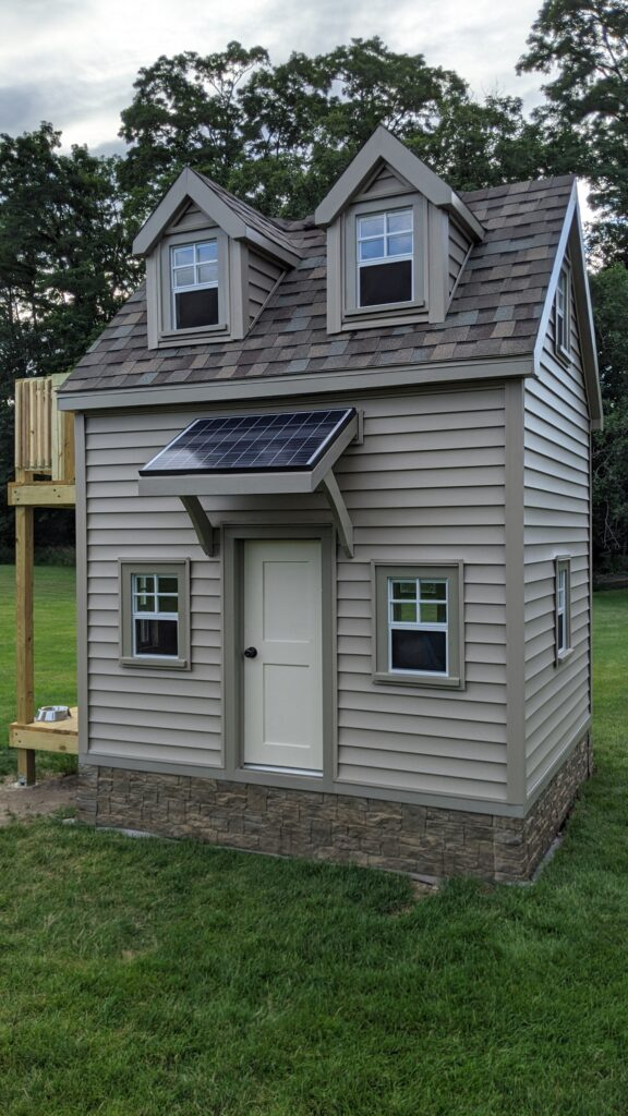 Two Story Playhouse Project with solar