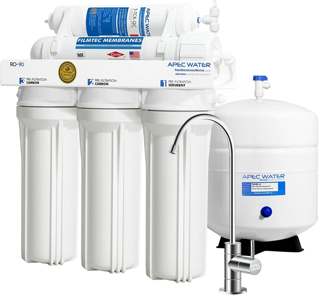 Reverse osmosis water filtration keeps minerals in your DIY Sparkling Water while filtering out the chlorine taste